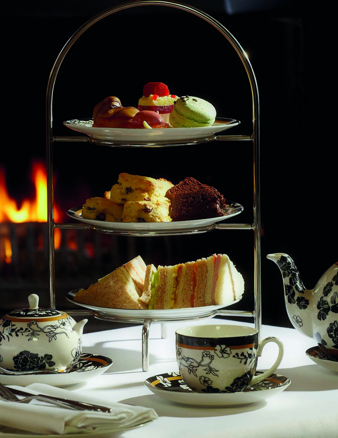 Brockencote Hall Hotel photo gallery afternoon tea