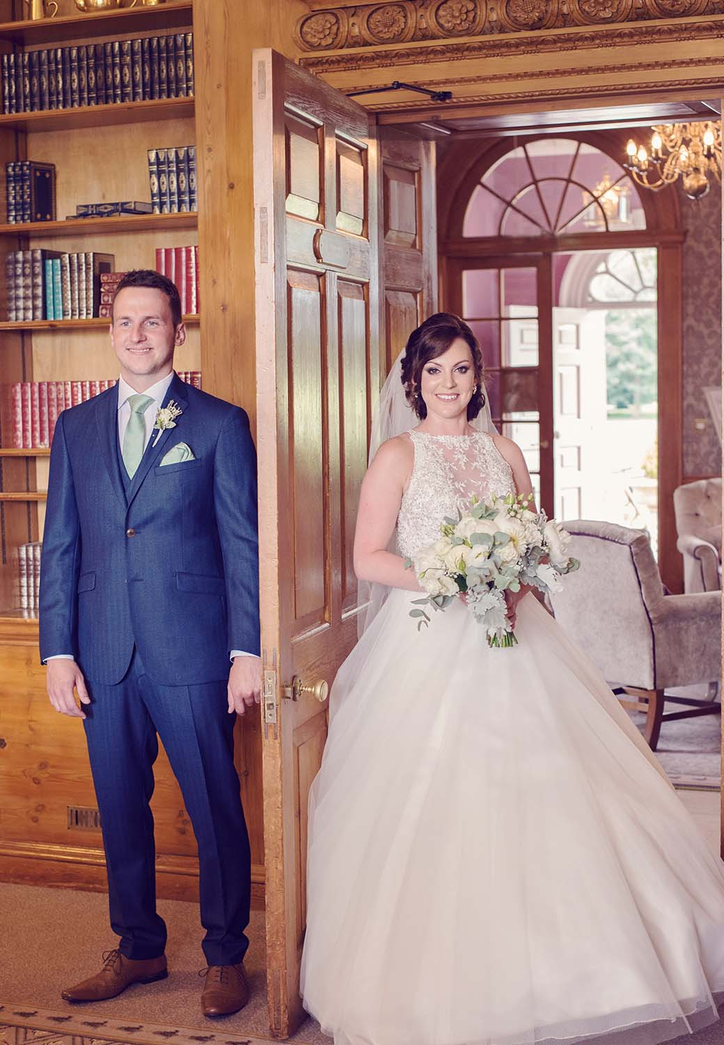 Brockencote Hall Hotel wedding bride and groom