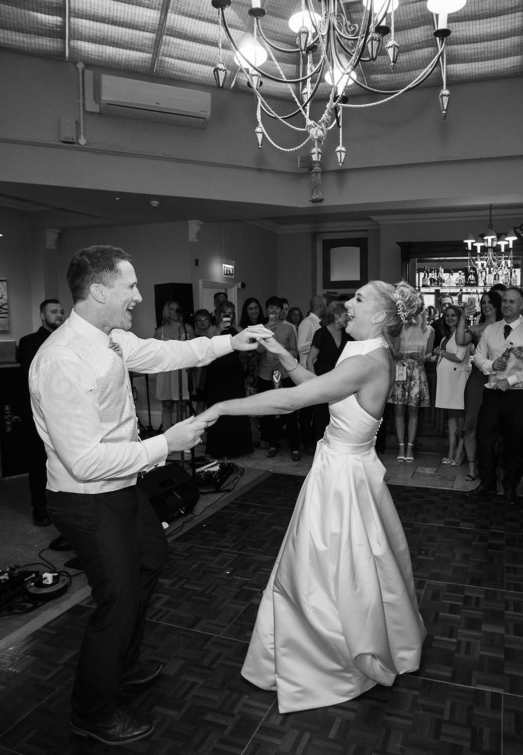 Brockencote Hall Hotel wedding first dance