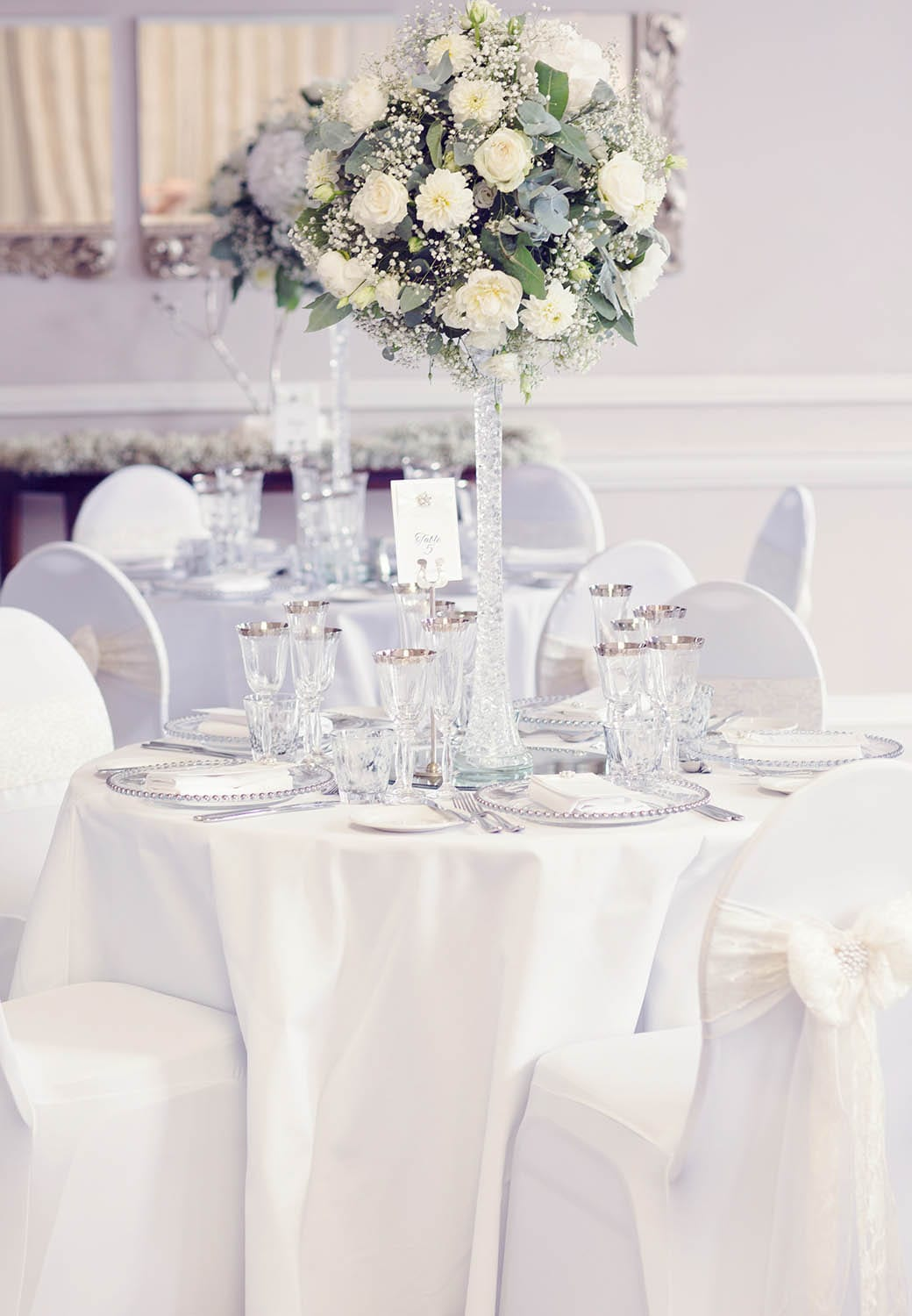 Brockencote Hall Hotel wedding table