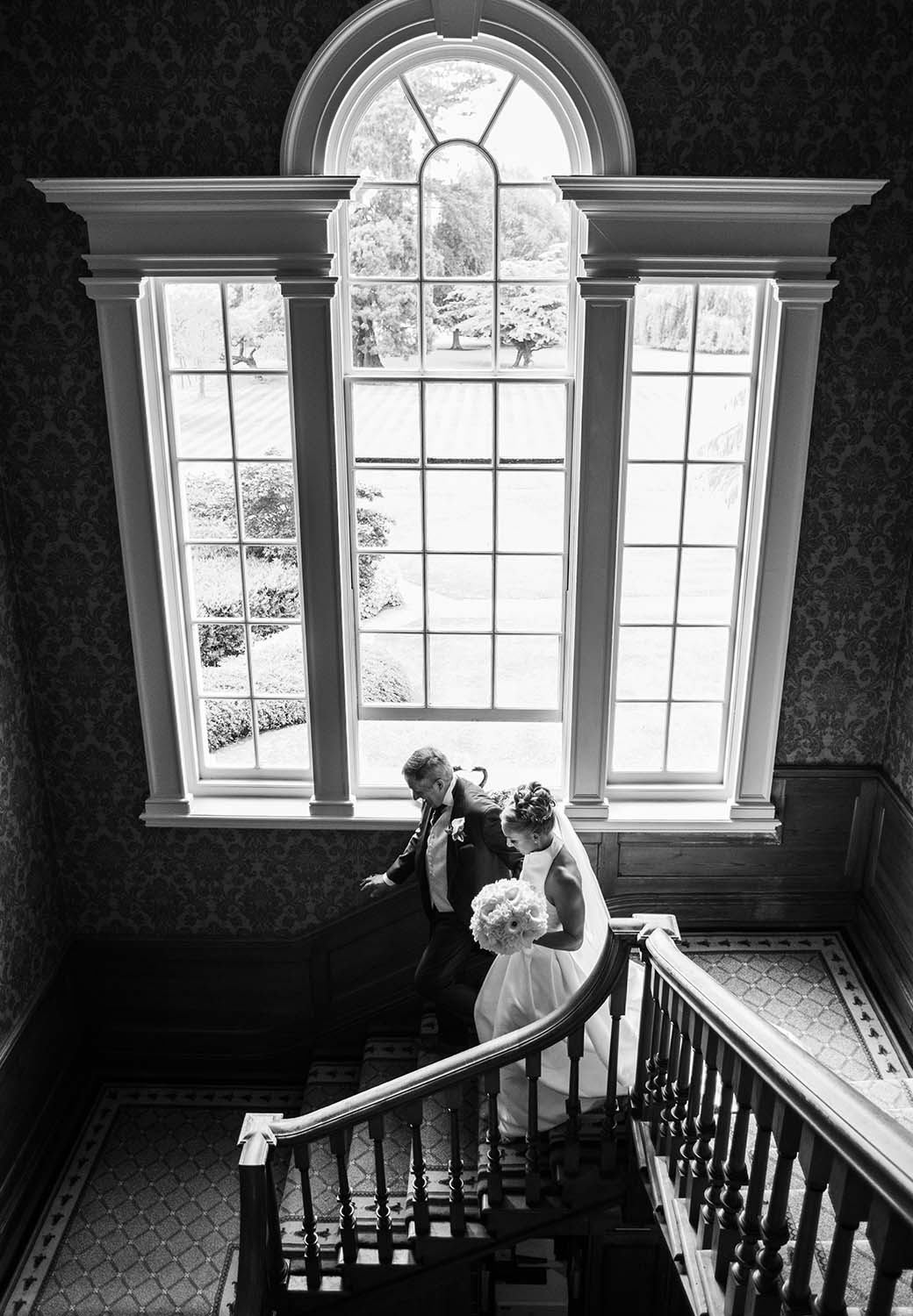 Brockencote Hall Hotel wedding staircase