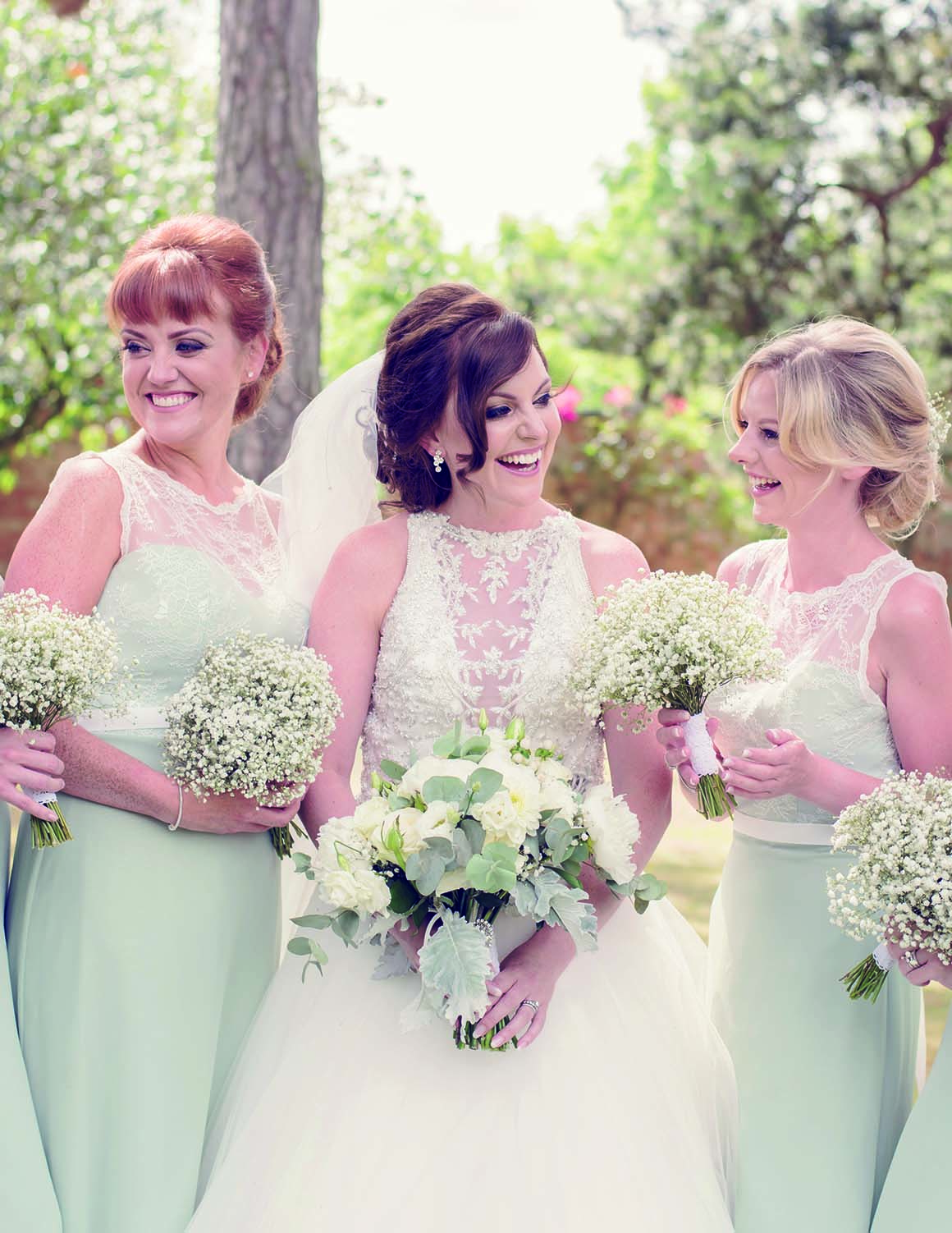 Brockencote Hall Hotel Wedding prices bride and bridesmaids