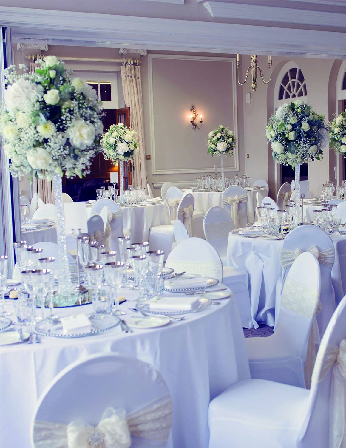 Brockencote Hall Hotel Wedding prices wedding set up