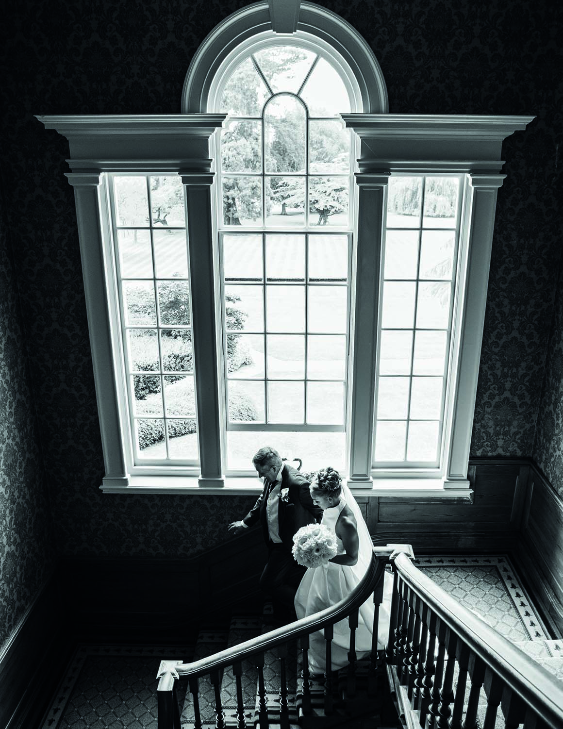 Brockencote Hall Hotel Wedding prices bride and father of the bride