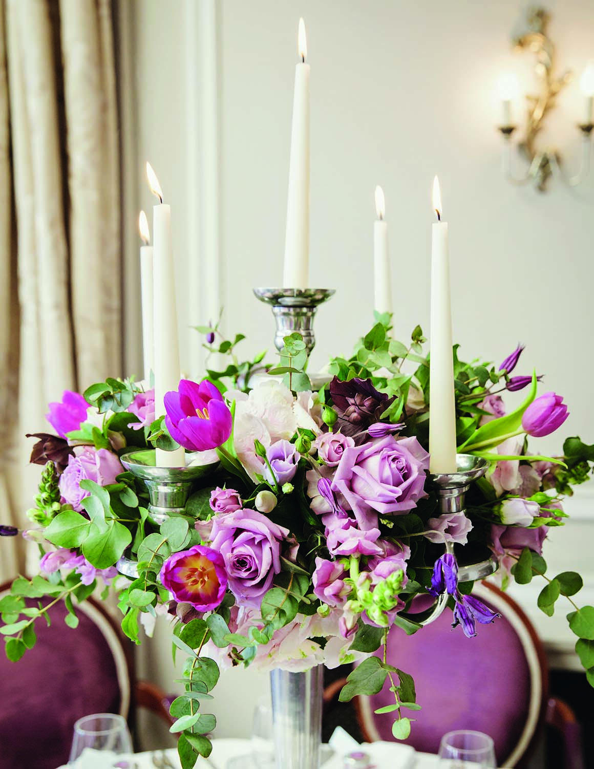 Brockencote Hall Hotel Wedding prices candelabra