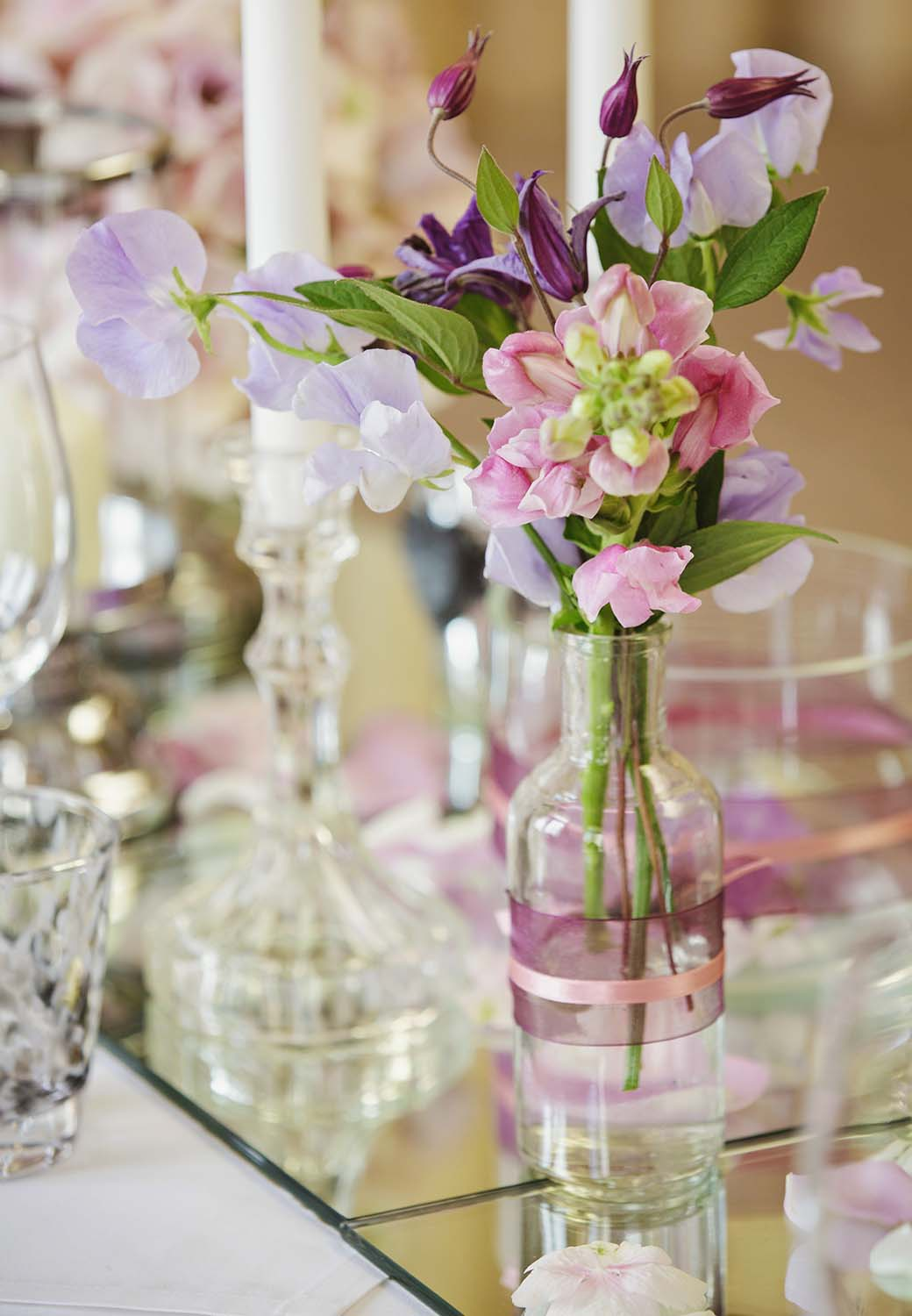 Wedding venues worcestershire wedding table set up with flowers