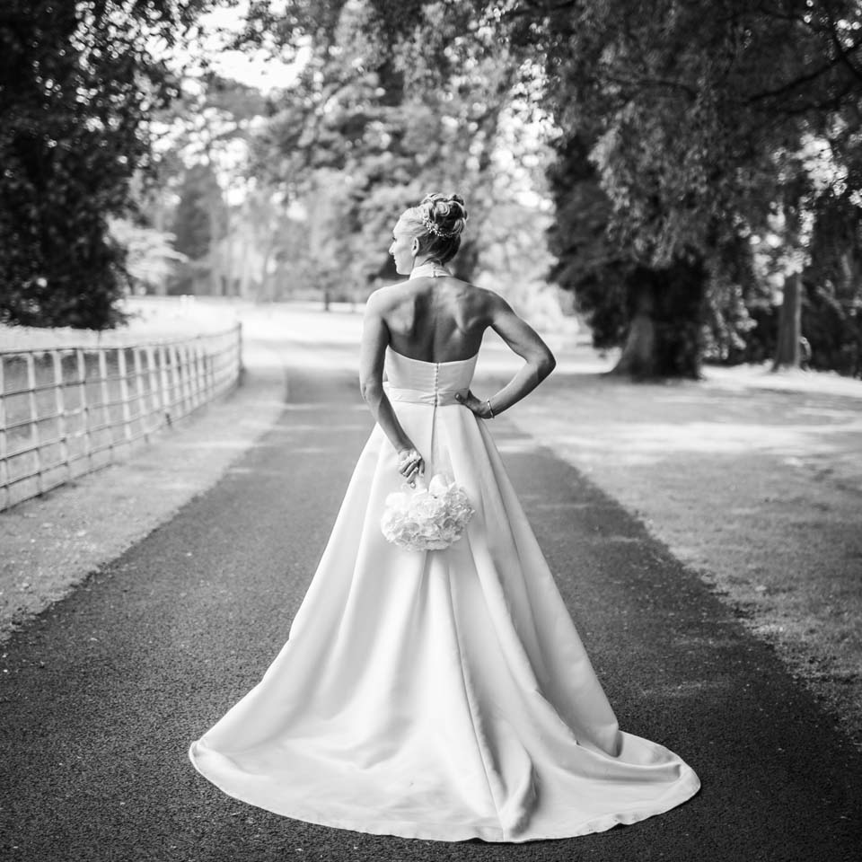 bride at Brockencote Hall Hotel