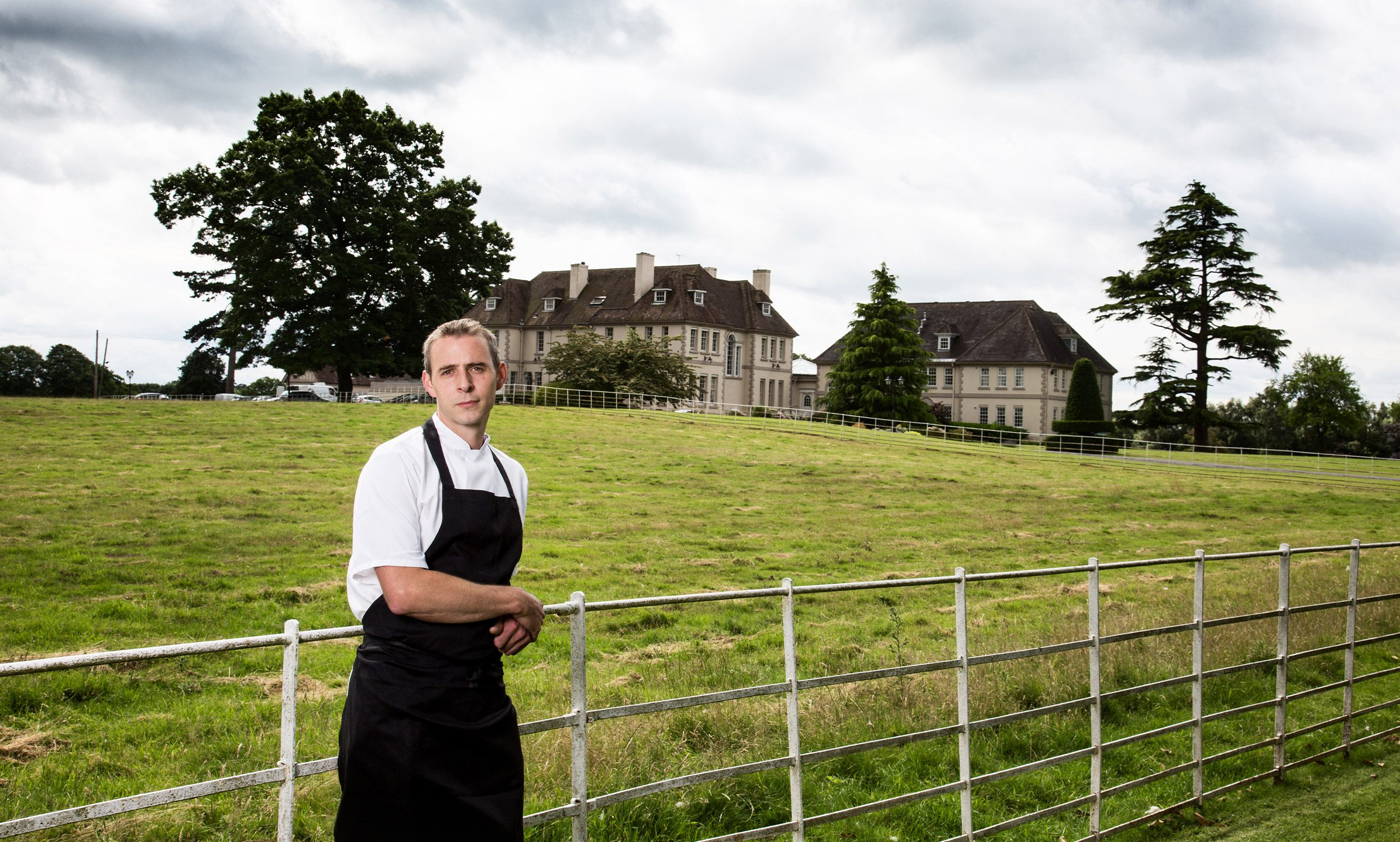 head chef, Tim Jenkins, at restaurant in Worcestershire